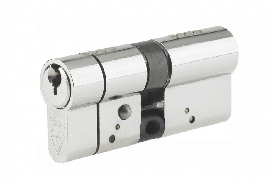 a British Standard euro cylinder with anti snap