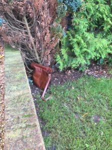 stolen bag which has been dumped but still causes the victim to need a lock change
