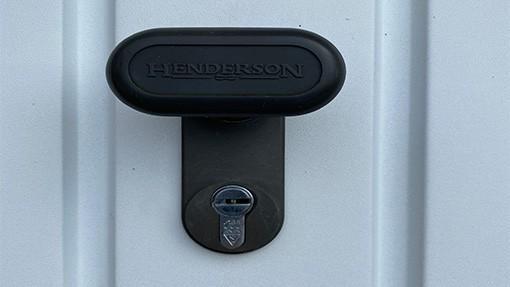 high security garage door lock